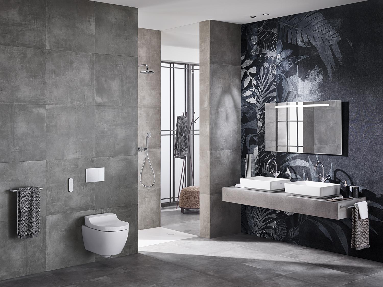 Salle de bains complète avec WC lavant Geberit