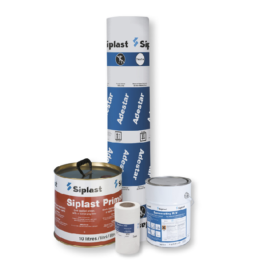 Packshot dur fond blanc de 4 produits pour un nouveau système d'étanchéité à froid