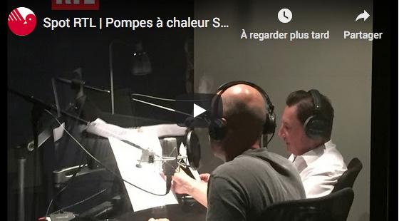 Un expert chauffage Saunier Duval dans le studio de la radio RTL