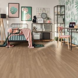 Udiwood ACCESS 3 frises, parquet contrecollé Chêne RHÔNE brossé verni mat, choix de bois Campagne Prix public indicatif : 39.90 €/m² TTC