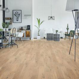 Udiwood PROJECT, parquet contrecollé Chêne NORMANDIE brossé verni mat, choix de bois Rustique Prix public indicatif : 56.90 €/m² TTC